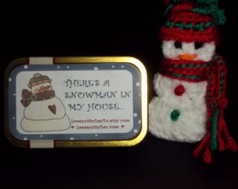This Altoids Tin Play set - There is a Snowman in My House.