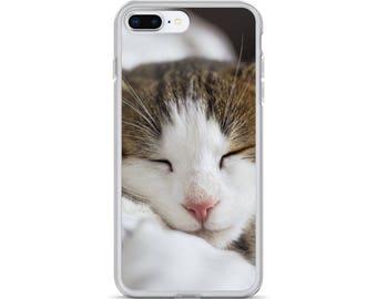 iPhone Cases, iPhone X Case, iPhone 6/6S, iPhone 7/7+ Cases ,Case iPhone 8/8+ Case, Lazy Cat print
