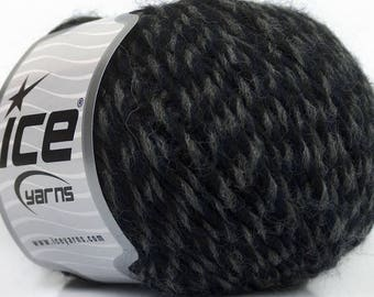 Peru Alpaca Worsted Yarn Navy Blue, Grays #49048 Ice Merino Wool Alpaca Acrylic 50g 98y