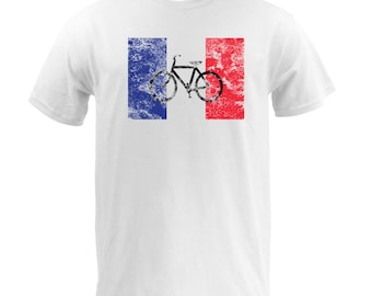 French Flag Bike - White