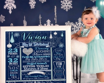 Winter wonderland birthday, winter wonderland 1st birthday, winter birthday party, winter onederland birthday, snowflake birthday BRDWTR03