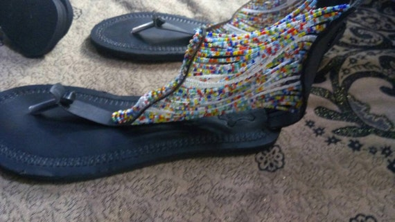 sandals african african SALE sandal beaded african masai sandal clothing ON kenyan sandals wxUOIq0f