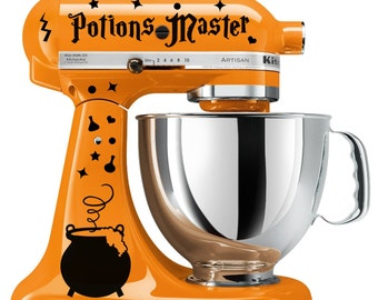 Potions Master Wizard Cauldron Decal Set Kitchenaid Stand Mixer Witches Wicca Mage Alchemy