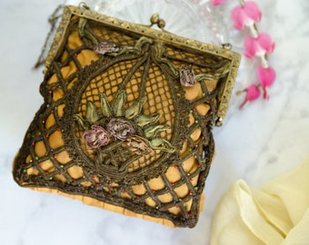 Antique Victorian Purse - Downton Abbey Gift For Her - Bell Epoque Evening Bag
