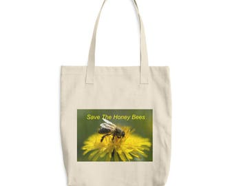 Save the Honey Bees Cotton Tote Bag
