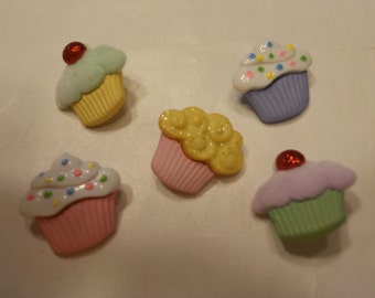 5 cupcake buttons, 17 mm (4)