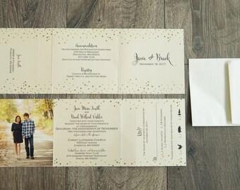 greenery wedding invitations custom wedding invitation suite