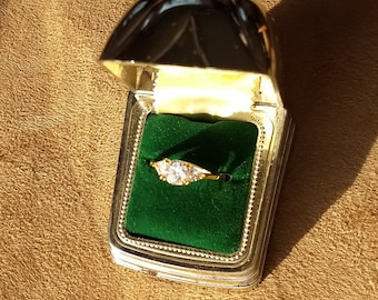 Past, Present and Future  Gold filled Ring.   Size 8