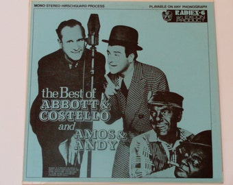 The Best of Abbott & Costello and Amos and Andy - 40's Comedy - Radio Comedy - Radiex-6 Mono 1960's - Vintage Vinyl LP Record Album