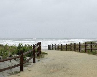 Stormy Beach Print, Beach Photography, Gray Tan Beach Art, Coastal Wall Art, Beach Wall Art, Jersey Shore Nature Photography, Ocean Art