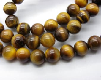 20 8 mm natural beige Brown Tiger eye beads