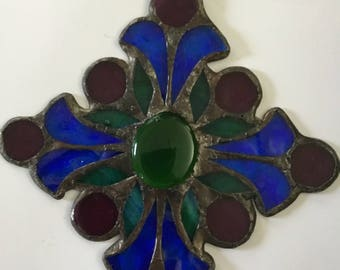 Gorgeous Vintage Stained Glass Sun Catcher