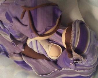 Handmade, polymer clay Nativity, christmas decor, home decor, sculpture, figureines,