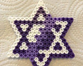 Perler Star of David magnet (lg)