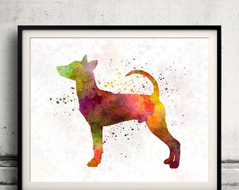 Taiwan Dog in watercolor INSTANT DOWNLOAD 8x10 inches Fine Art Print Poster Decor Home Watercolor - SKU 2000
