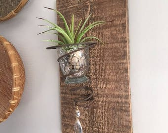 Rustic Repurposed Wall Décor-Candle Holder