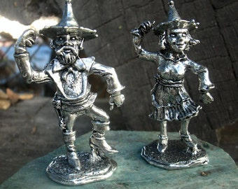 Wizard of Oz Figures....Man and Lady Munchkin