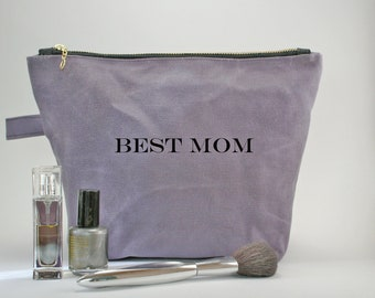 Ladies Cosmetic Bag / Make up bag / Mothers Day Gift / Waxed Canvas Dopp Kit / Gift For Women / Personalized Dopp Kit / Travel Bag / Shave