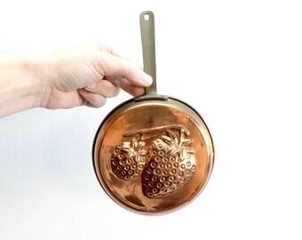 Copper Pan Mold, Vintage Kitchen Decor, Wall Decor