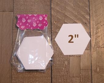 "2"" hexagons for English Paper piecing - quilting supplies - EPP hexagon - precut hexies - hexagon quilt making - paper pieces DIY hexie"