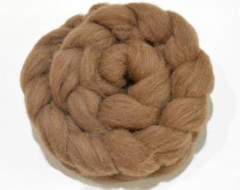 Shetland Wool Combed Top - Moorit - Heritage Breed - 100 grams