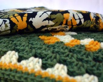 Camouflage baby blanket, dino baby blanket, crochet baby blanket, granny square blanket, reversible crochet blanket, afghan, travel blanket