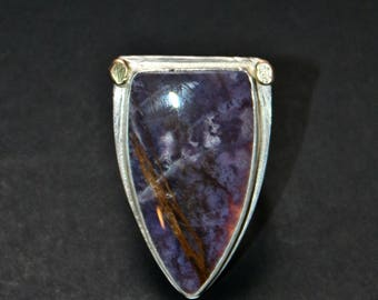 Purple Burro Creek Jasper Statement Ring