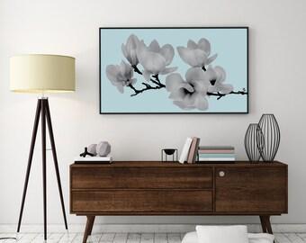 Magnolia Print, Flower Illustration, Flower Wall Art, Plant Poster, Flower Decor, Modern Prints, Inspirational Print, Floral Wall Decor,