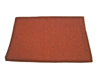 Vintage felted wool fabric Winter fabric in brown