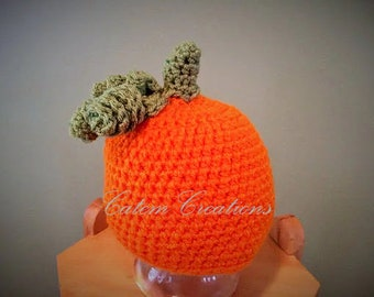 Infant Toddler Crochet Pumpkin Hat