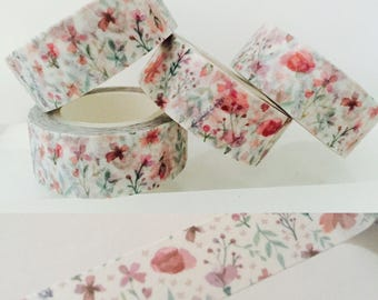 Watercolor Wildflowers Washi Tape