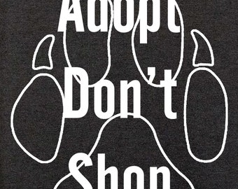 Adopt Don't Shop Paw  - Short Sleeved T-Shirt