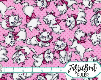 DISNEY ARISTOCATS Fabric by the Yard Fat Quarter Marie Kitten Fabric Pink Cat Fabric Quilting Fabric 100% Cotton Fabric Apparel Fabric t5-14