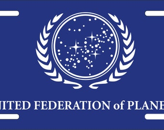 United Federation of Planets License Plate - Dye Sublimation - UV Resistant