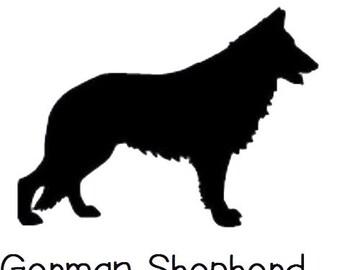 DIY German Shepard Dog Vinyl Decal, Shepard Owner, Laptop Decal, iPad Decal, Tablet Decal, Cell Phone Decal, Car Window Decal