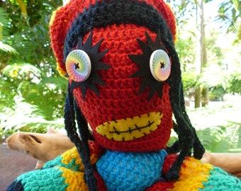 Blob Marley crocheted monster