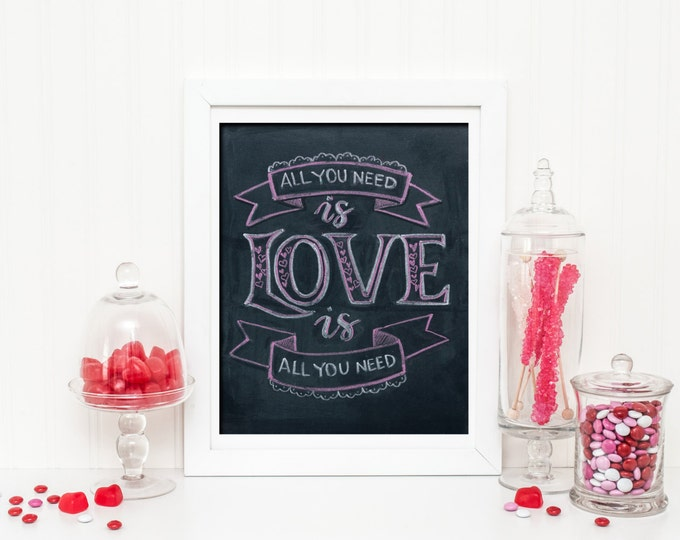 Love is All You Need! A Print of an Original Chalkboard