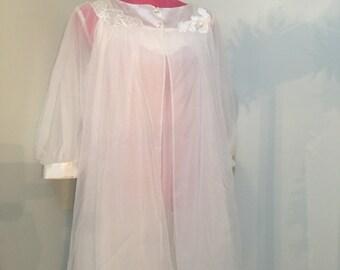Gossard Artemis Peignoir 1960's Nightgown and Robe Set