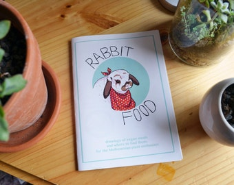Rabbit Food zine / Veganism / Melbourne food / Art zine / Drawings of food / Melbourne tourism