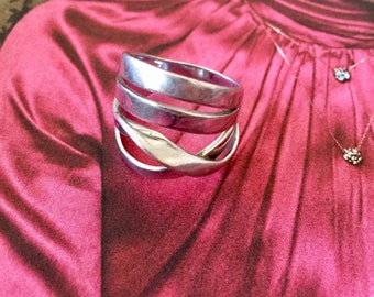 Four 925 sterling silver ring - very original