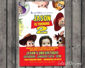Toy Story Birthday Photo Invitation Digital Download