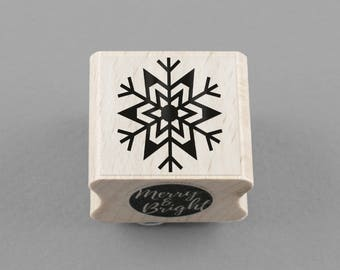 Rubber Stamp Snowflake 2,5 x 2,5 cm