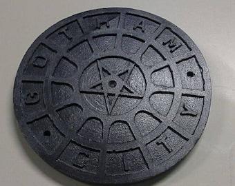 Miniature Gotham City manhole cover