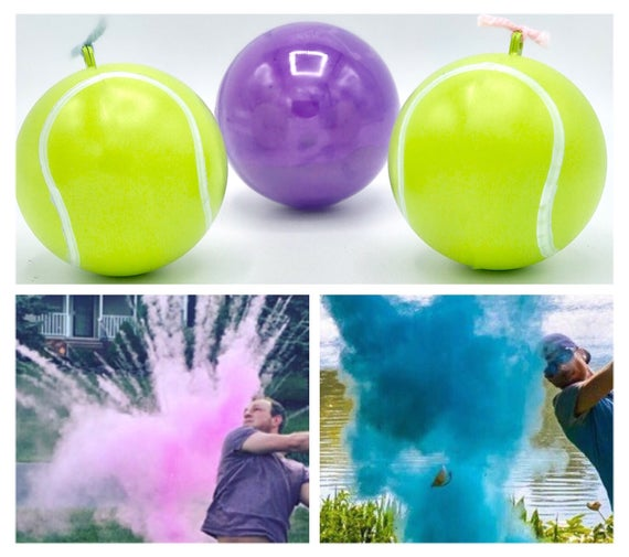 NEW* Tennis Balls for Gender Reveal Filled with the Most Powder! The Perfect Gender Reveal Idea! Tennis Ball!