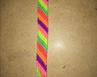 neon striped bracelet