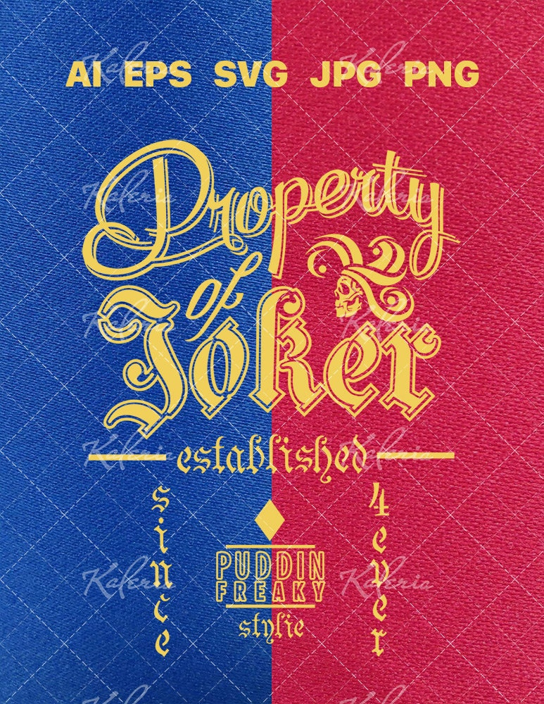 Property of joker original design vector svg files for zoom ccuart Image collections