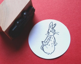 Peter Rabbit Rubber Stamp  - Handmade rubber stamp by BlossomStamps