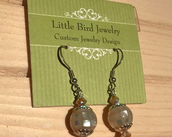 Small Round Disco Earrings