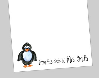 Personalized Penguin Notepads - Teacher Gift ~ 3 sizes