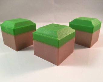 Grass Block Soap / Gamer Soap / Video Game Soap / Handmade Soap / Set of 3 / 3.5 oz / Goat's Milk Soap / Party Favor Soap